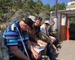 På båten till Järflotta.